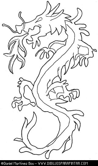 Único Dragón Japonés Para Colorear Colección - Páginas Para Colorear ...