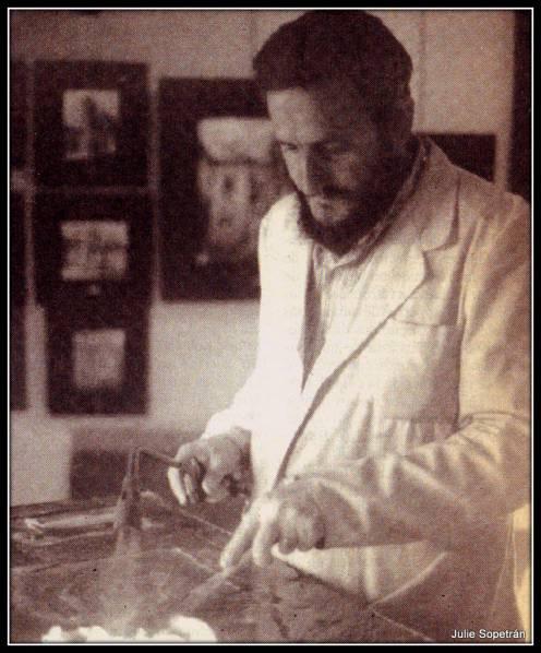Mariano Canfrán en su estudio