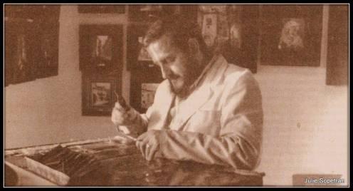 Mariano Canfrán trabajando